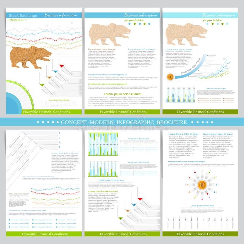 Infographics beståndsdelar i plan begreppsbörsstil stock illustrationer