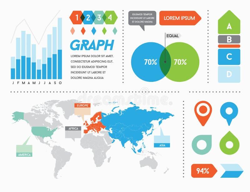 Infographics beståndsdelar och objekt vektor illustrationer