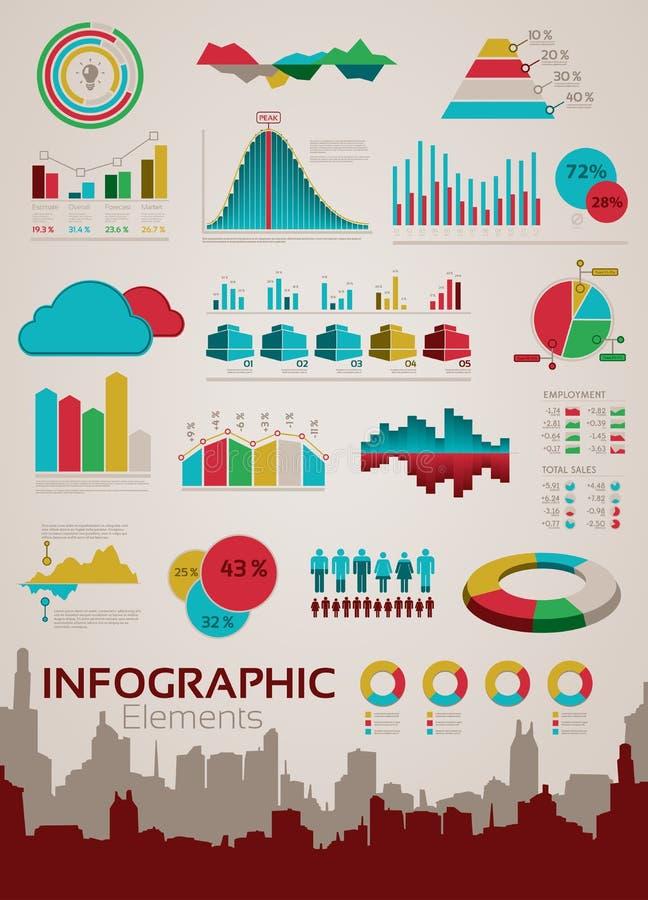 Infographics beståndsdelar och statistik stock illustrationer