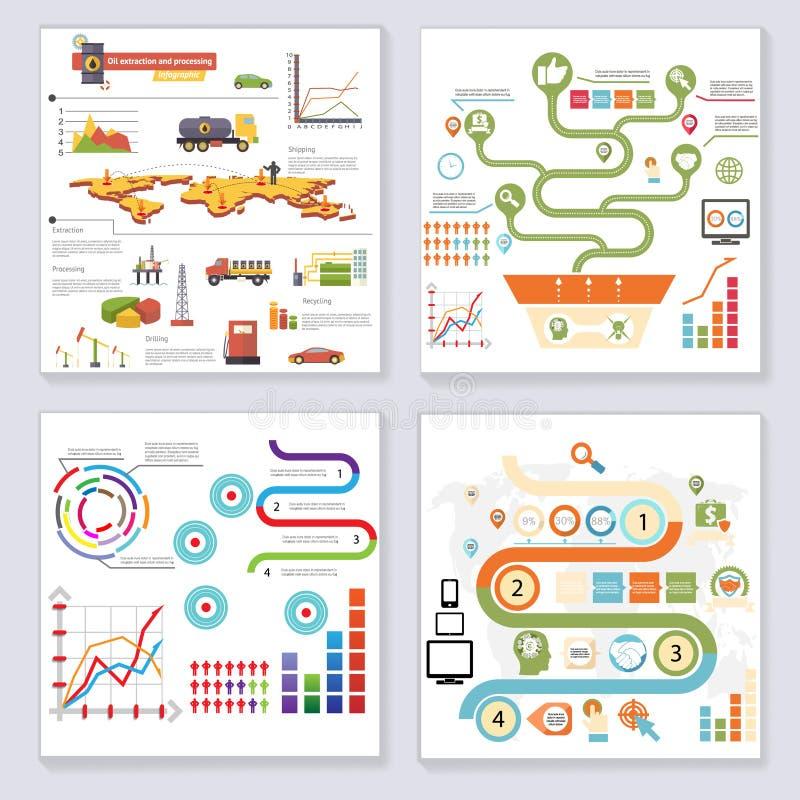 Infographics beståndsdelsymboler och för stildesign för symboler Retro mall på stilfull abstrakt bakgrundsvektorillustration stock illustrationer