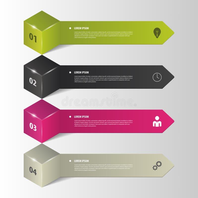 Infographics Biznesowe krok opcje również zwrócić corel ilustracji wektora ilustracji