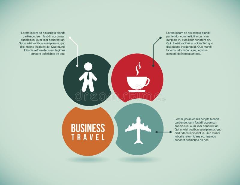 Infographics biznesowej podróży ikony royalty ilustracja