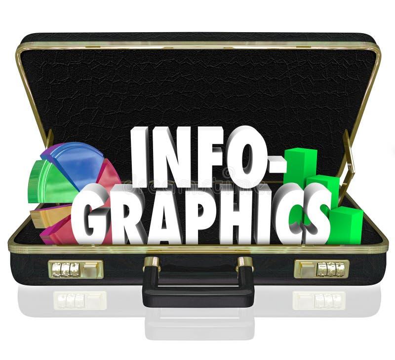 Infographics Briefcase Sales Presentation Important Data Information royalty free illustration