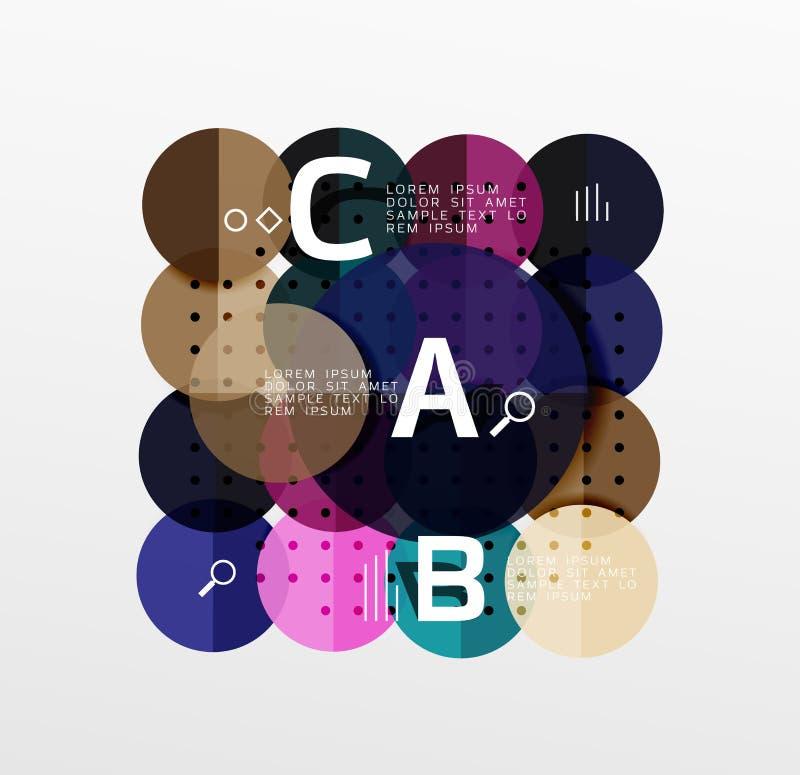 Infographics brillant coloré de cercle illustration de vecteur