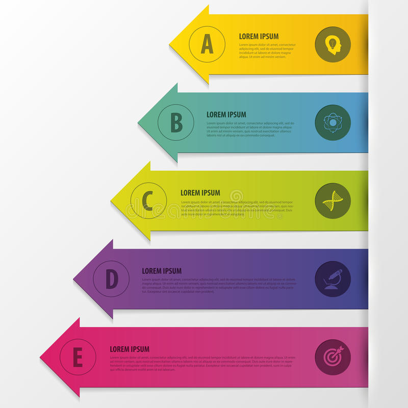 Infographics. Business step options. Arrows style. Vector illustration stock illustration