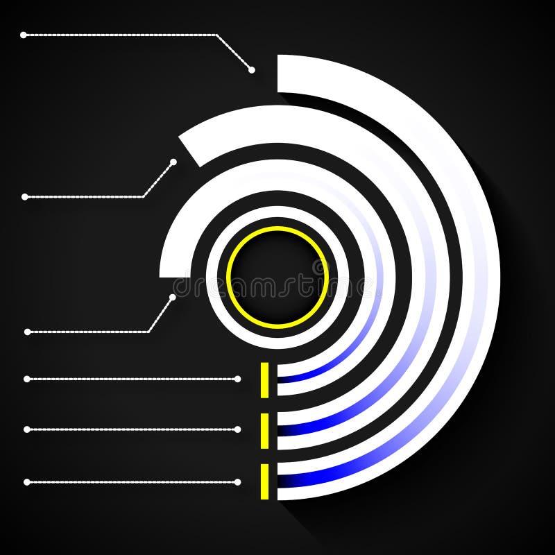 Infographics circular concêntrico ilustração do vetor