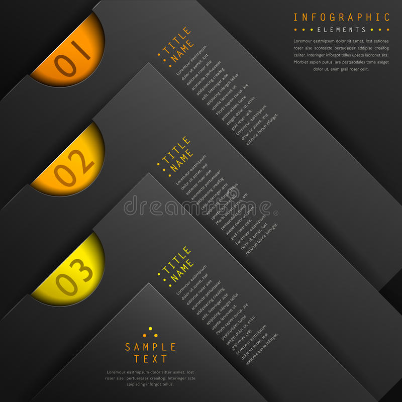Infographics clásico del papel del extracto 3d stock de ilustración