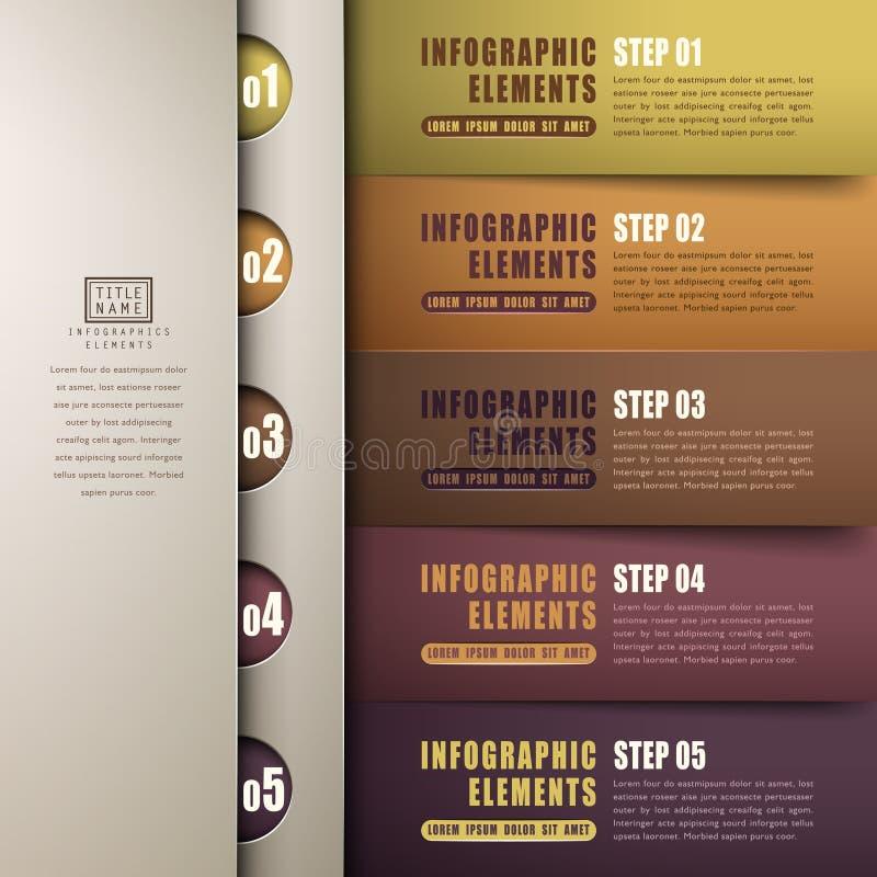 Infographics clásico del papel del extracto 3d libre illustration