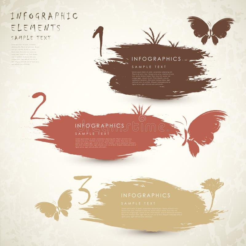 Infographics clássico da bandeira do sumário do estilo ilustração royalty free