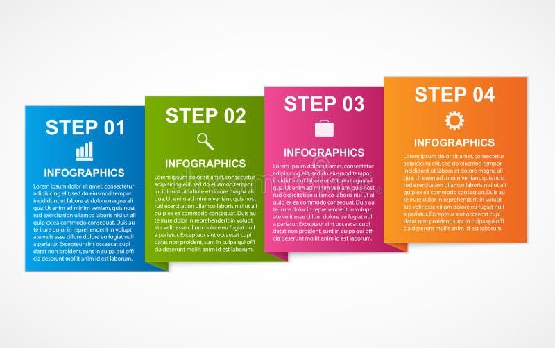 Infographics coloré de places pour vos présentations d'affaires illustration libre de droits