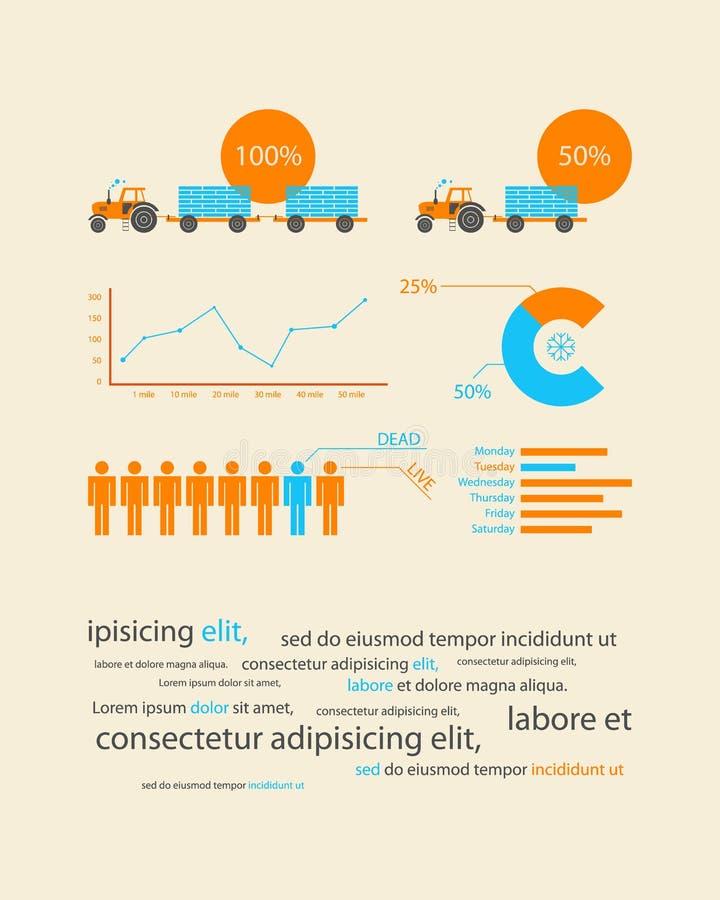 Infographics come sviluppo del record di affari royalty illustrazione gratis