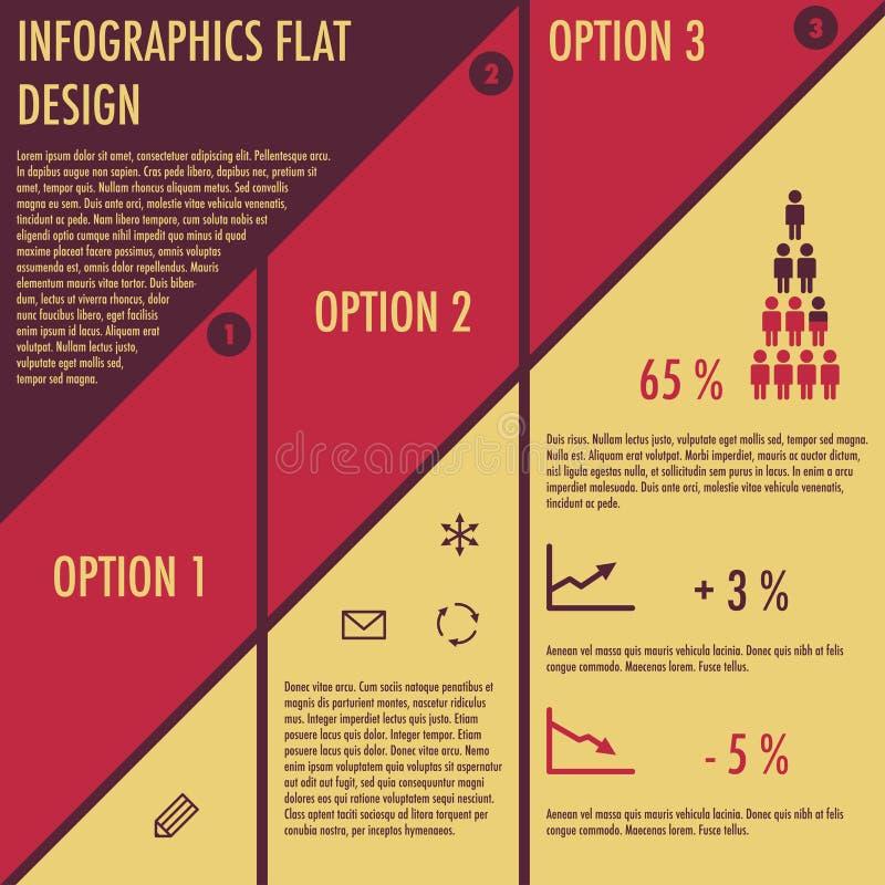 Infographics con diseño plano ilustración del vector