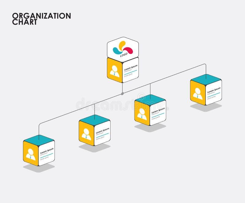 Infographics con el árbol, flujo de la carta de organización del diagrama Vector libre illustration