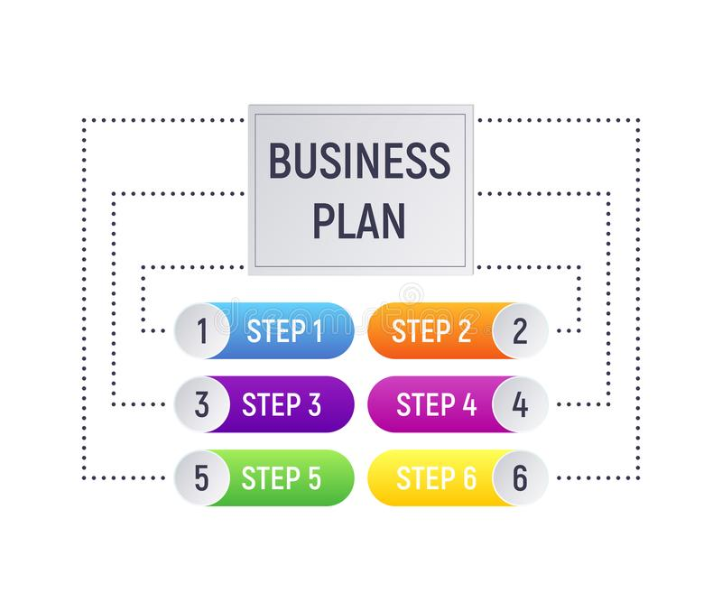 Infographics concept business plan. stock illustration