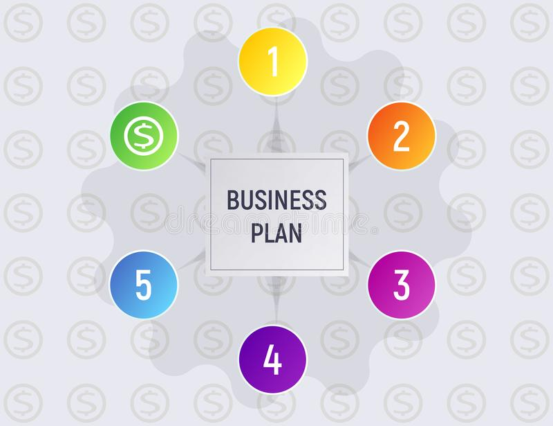 Infographics concept business plan. vector illustration