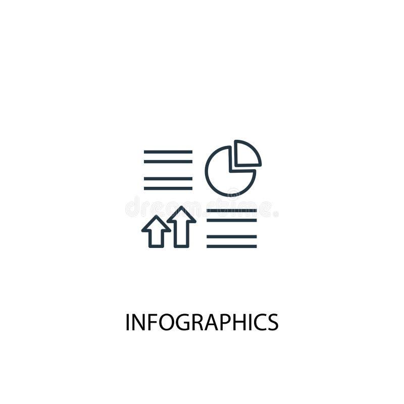 Infographics concept line icon. Simple. Element illustration. Infographics concept outline symbol stock illustration