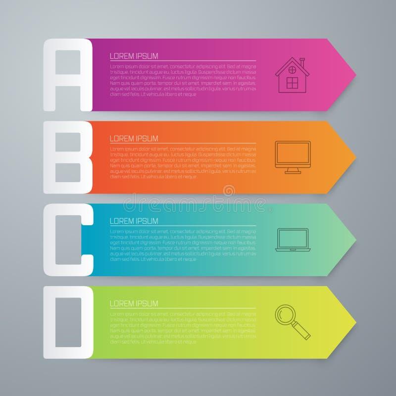 Infographics courant d'affaires de vecteur illustration de vecteur