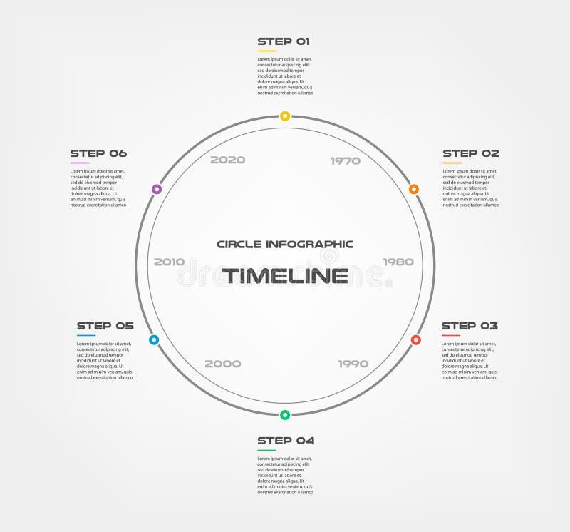 Infographics d'étapes de chronologie de serpent - peut illustrer une stratégie, déroulement des opérations ou le travail d'équipe illustration de vecteur