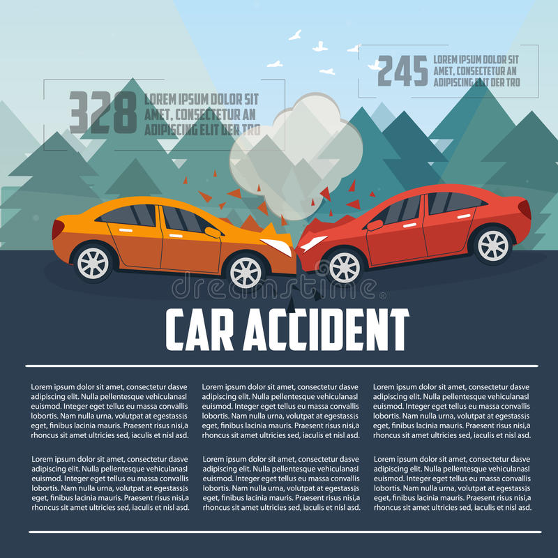 Infographics d'accident de voiture illustration de vecteur