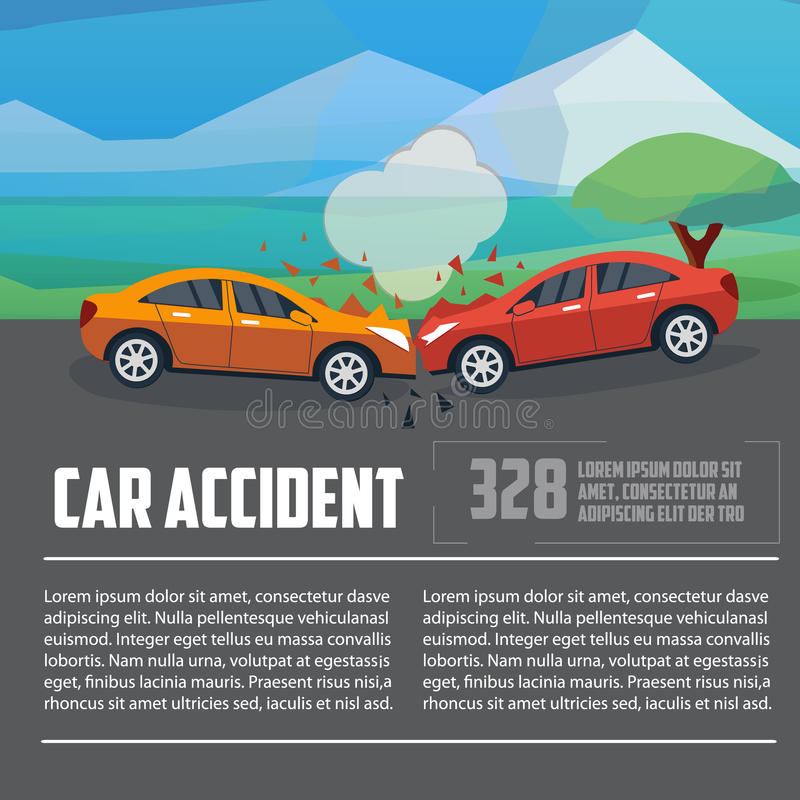 Infographics d'accident de voiture illustration libre de droits