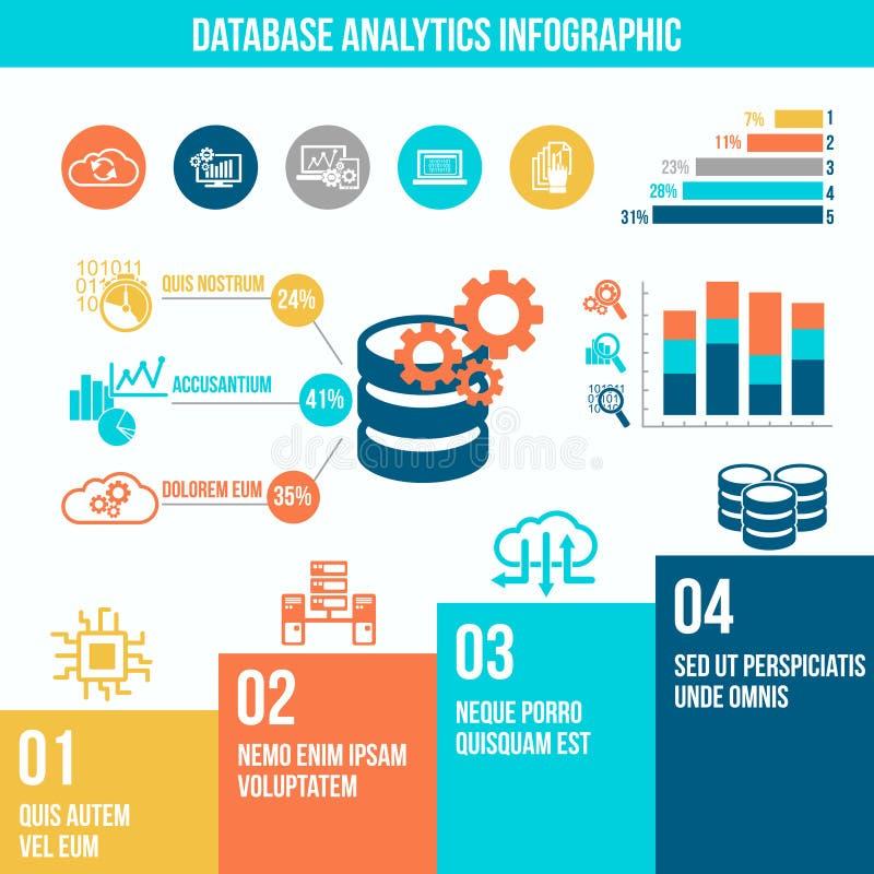 Infographics d'analytics de base de données illustration libre de droits