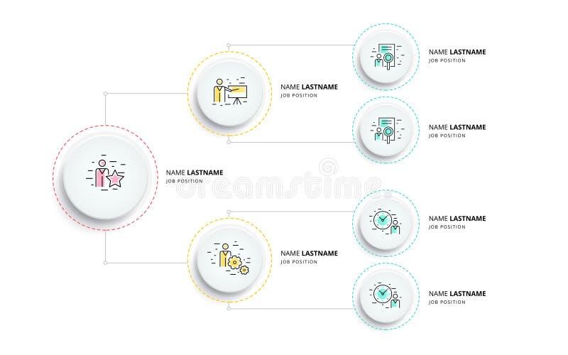 Infographics da carta do organogram da hierarquia do negócio Orga incorporado ilustração royalty free