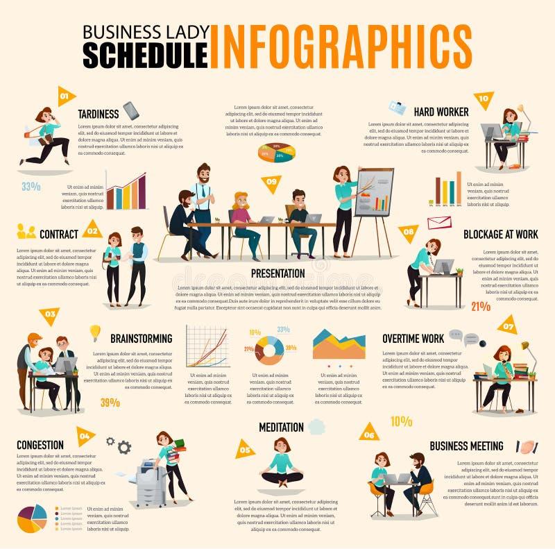 Infographics da gestão de tempo ilustração stock
