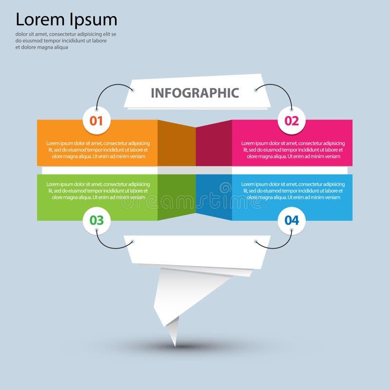 Infographics-Darstellungs-Schablone # 1 lizenzfreie abbildung