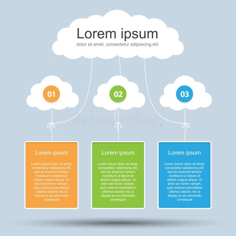 Infographics-Darstellungs-Schablone # 3 lizenzfreie abbildung