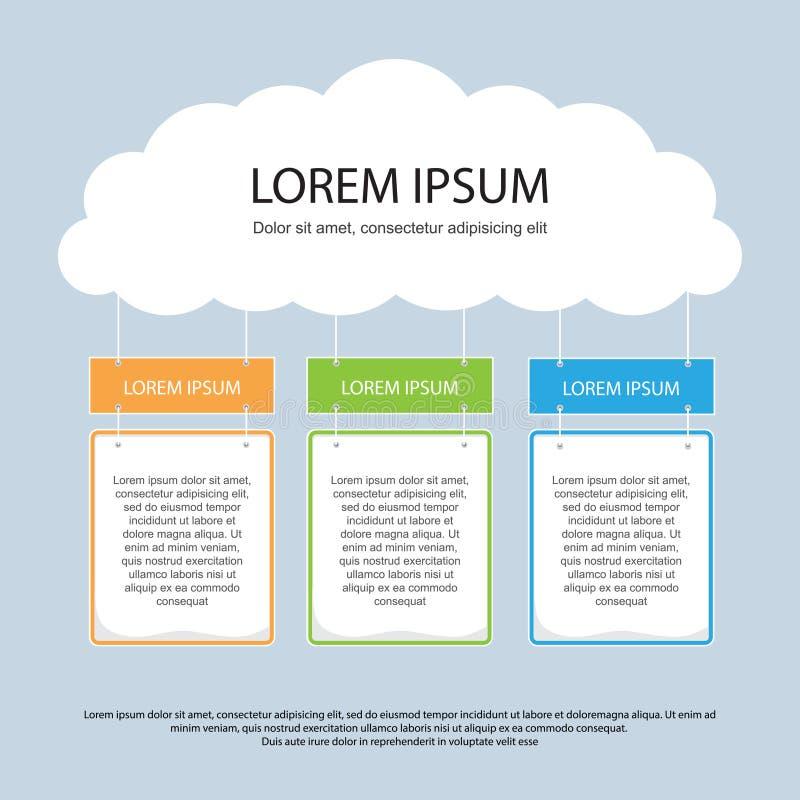 Infographics-Darstellungs-Schablone # 6 lizenzfreie abbildung