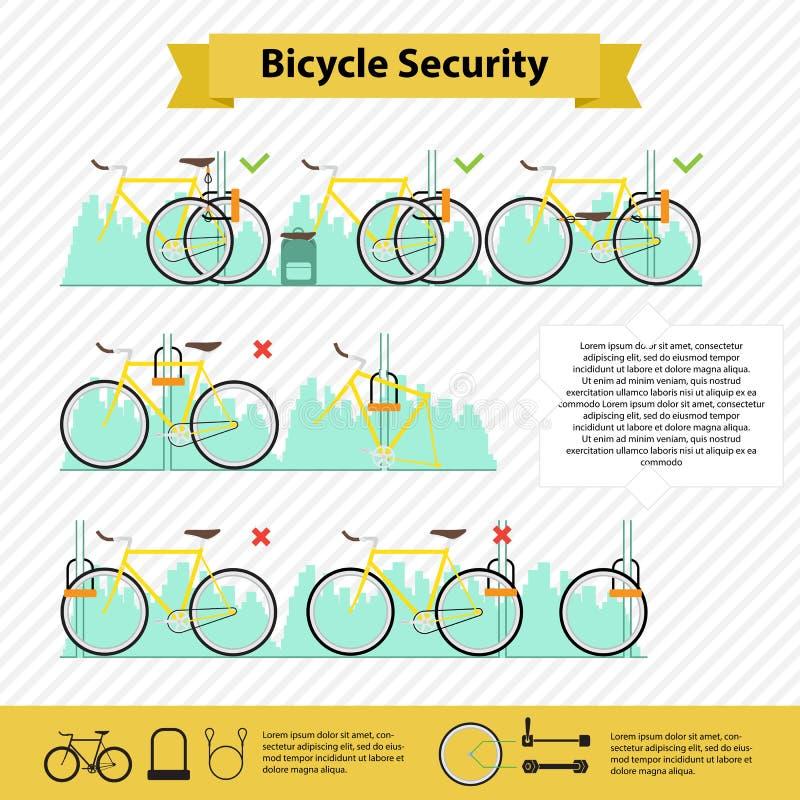 Infographics de bicyclette illustration libre de droits