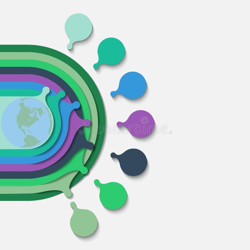 Infographics de círculos concêntricos Molde 3d colorido para demonstrar opções nas apresentações ilustração royalty free
