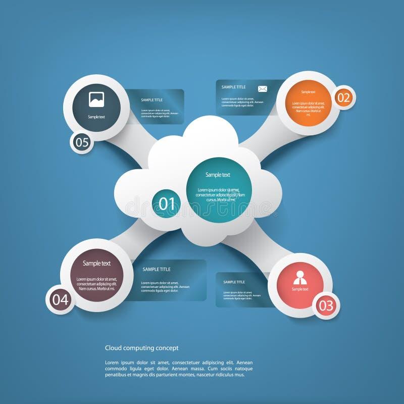 Infographics de calcul de concept de nuage illustration libre de droits