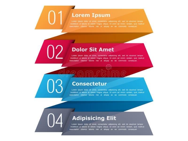 Infographics de cuatro pasos stock de ilustración
