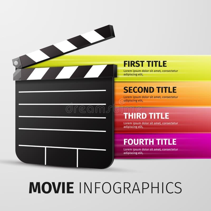 Infographics de film illustration libre de droits