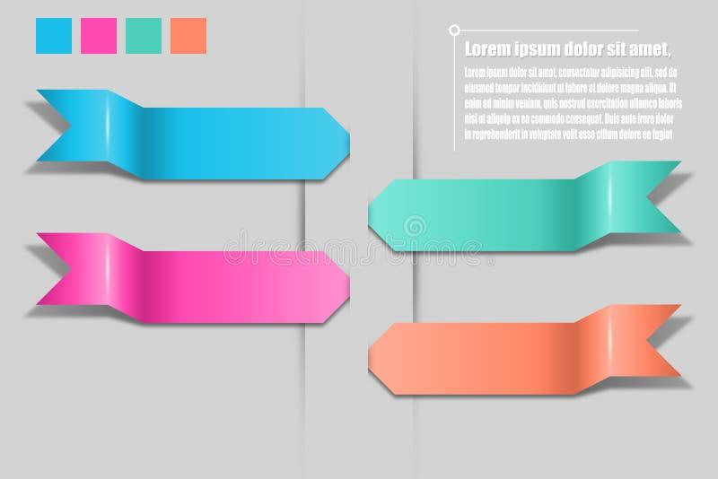 Infographics de flèches Calibre pour le diagramme, graphique, présentation a illustration libre de droits