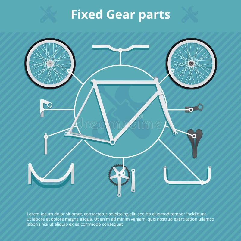 Infographics de la bicicleta stock de ilustración