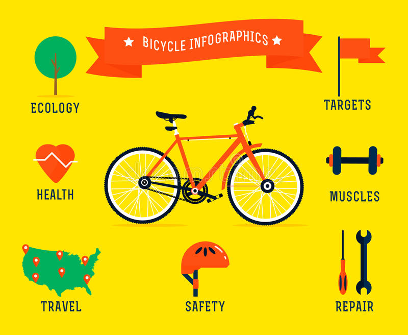 Infographics de la bicicleta ilustración del vector