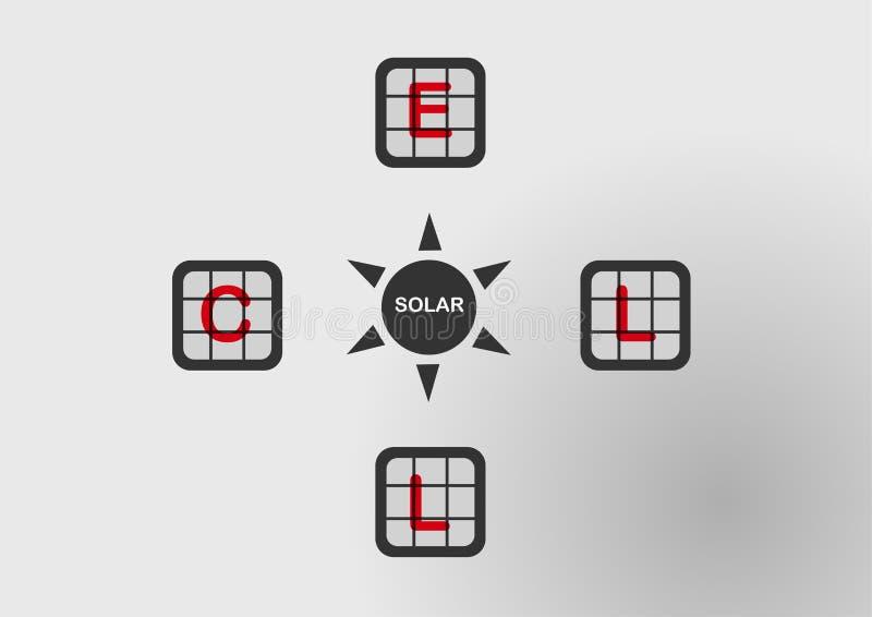 Infographics de la célula solar stock de ilustración