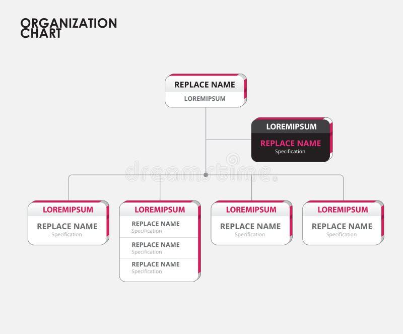 Infographics de la carta de organización con el árbol Ilustración del vector stock de ilustración