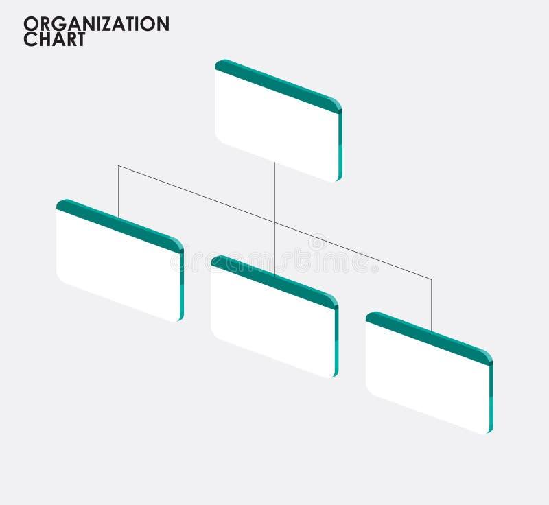 Infographics de la carta de organización con el árbol, tem de la carta de organización stock de ilustración