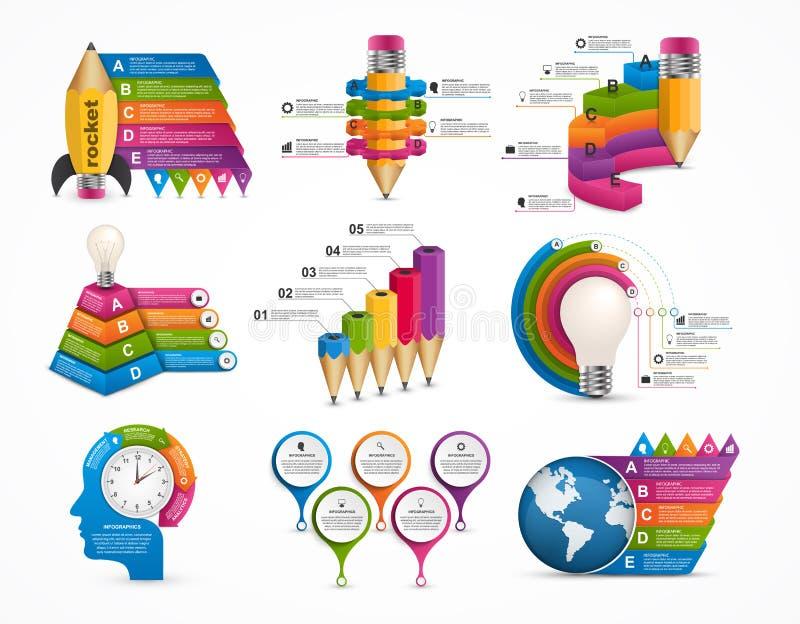 Infographics de la colección Elementos del diseño ilustración del vector