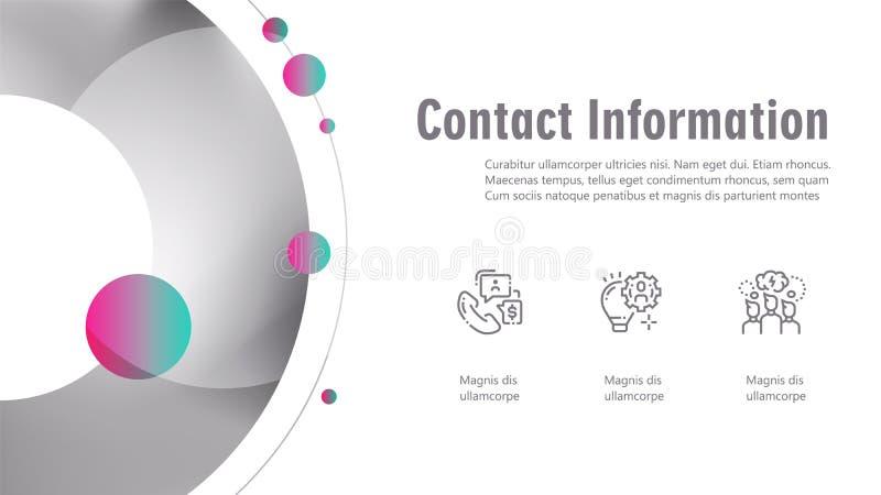 Infographics de la cubierta del folleto usado en el márketing y la publicidad libre illustration