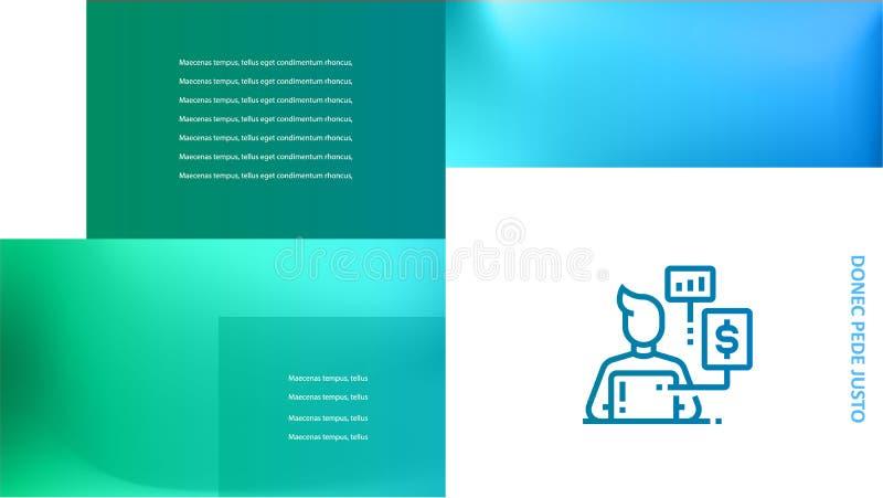 Infographics de la cubierta del folleto usado en el márketing y la publicidad ilustración del vector