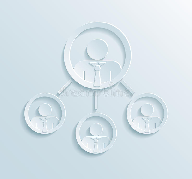 Infographics de la estructura directiva del negocio libre illustration