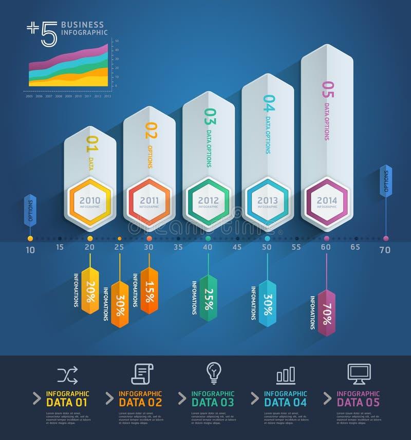 infographics de la flecha 3d stock de ilustración