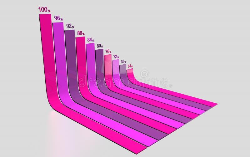 Infographics de la información curvado imagen de archivo libre de regalías