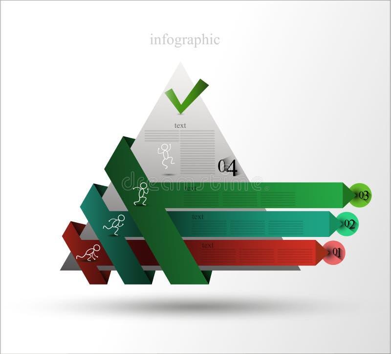 Infographics de la pyramide illustration stock