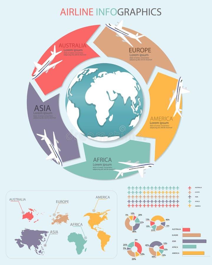 Infographics de ligne aérienne illustration libre de droits