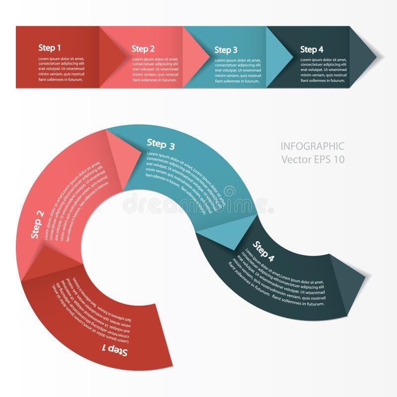 Infographics De module van de procesgrafiek royalty-vrije illustratie